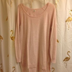 Old Navy Blush Pink Sweater Maternity L Tunic